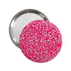 Template Deep Fluorescent Pink 2 25  Handbag Mirrors