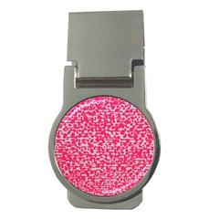 Template Deep Fluorescent Pink Money Clips (round)