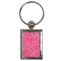 Template Deep Fluorescent Pink Key Chains (rectangle)