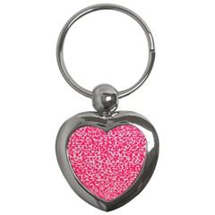 Template Deep Fluorescent Pink Key Chains (heart)
