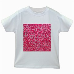 Template Deep Fluorescent Pink Kids White T Shirts
