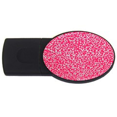 Template Deep Fluorescent Pink Usb Flash Drive Oval (4 Gb)
