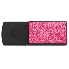 Template Deep Fluorescent Pink Usb Flash Drive Rectangular (4 Gb)