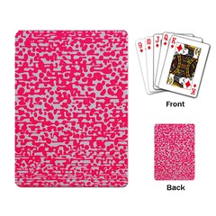 Template Deep Fluorescent Pink Playing Card