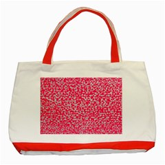 Template Deep Fluorescent Pink Classic Tote Bag (Red)