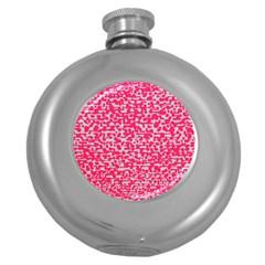 Template Deep Fluorescent Pink Round Hip Flask (5 Oz)