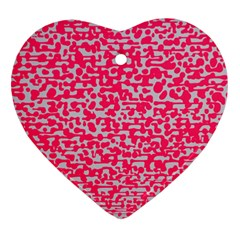 Template Deep Fluorescent Pink Heart Ornament (two Sides)