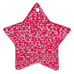 Template Deep Fluorescent Pink Star Ornament (two Sides)