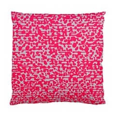 Template Deep Fluorescent Pink Standard Cushion Case (two Sides)
