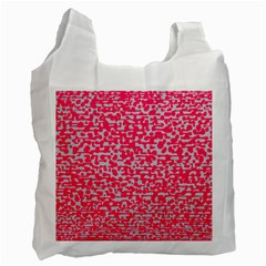 Template Deep Fluorescent Pink Recycle Bag (one Side)