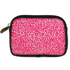 Template Deep Fluorescent Pink Digital Camera Cases
