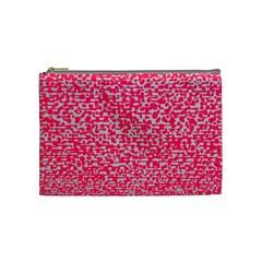 Template Deep Fluorescent Pink Cosmetic Bag (medium)
