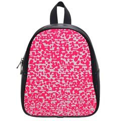 Template Deep Fluorescent Pink School Bags (small)