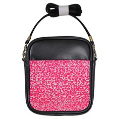 Template Deep Fluorescent Pink Girls Sling Bags