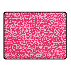 Template Deep Fluorescent Pink Fleece Blanket (Small)