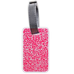 Template Deep Fluorescent Pink Luggage Tags (two Sides)