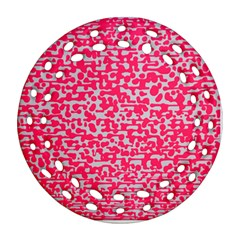 Template Deep Fluorescent Pink Ornament (round Filigree)