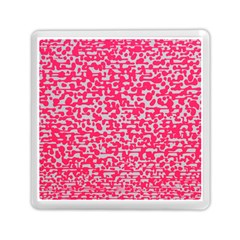 Template Deep Fluorescent Pink Memory Card Reader (square)