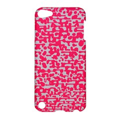 Template Deep Fluorescent Pink Apple Ipod Touch 5 Hardshell Case