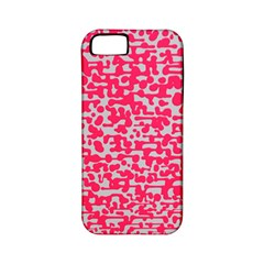 Template Deep Fluorescent Pink Apple Iphone 5 Classic Hardshell Case (pc+silicone)