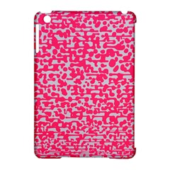 Template Deep Fluorescent Pink Apple Ipad Mini Hardshell Case (compatible With Smart Cover)