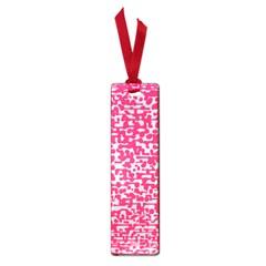 Template Deep Fluorescent Pink Small Book Marks