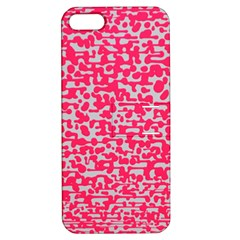 Template Deep Fluorescent Pink Apple Iphone 5 Hardshell Case With Stand