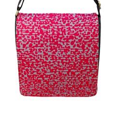 Template Deep Fluorescent Pink Flap Messenger Bag (l)