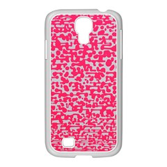 Template Deep Fluorescent Pink Samsung Galaxy S4 I9500/ I9505 Case (white)