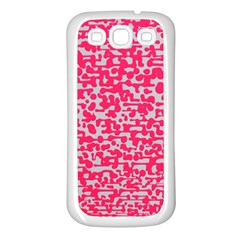 Template Deep Fluorescent Pink Samsung Galaxy S3 Back Case (white)