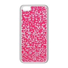 Template Deep Fluorescent Pink Apple Iphone 5c Seamless Case (white)