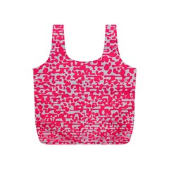Template Deep Fluorescent Pink Full Print Recycle Bags (s)