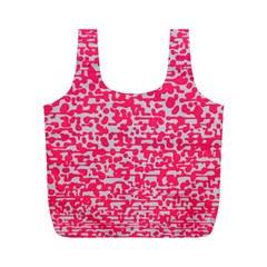 Template Deep Fluorescent Pink Full Print Recycle Bags (m)