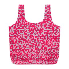 Template Deep Fluorescent Pink Full Print Recycle Bags (l)