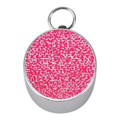 Template Deep Fluorescent Pink Mini Silver Compasses