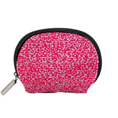 Template Deep Fluorescent Pink Accessory Pouches (small)