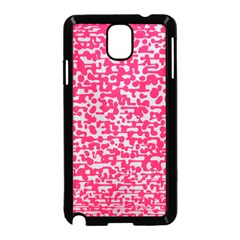 Template Deep Fluorescent Pink Samsung Galaxy Note 3 Neo Hardshell Case (black)