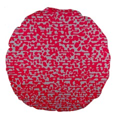 Template Deep Fluorescent Pink Large 18  Premium Flano Round Cushions