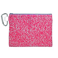 Template Deep Fluorescent Pink Canvas Cosmetic Bag (xl)