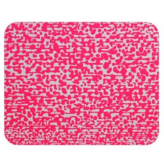 Template Deep Fluorescent Pink Double Sided Flano Blanket (medium)