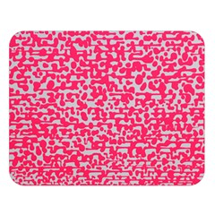 Template Deep Fluorescent Pink Double Sided Flano Blanket (large)