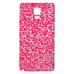 Template Deep Fluorescent Pink Galaxy Note 4 Back Case