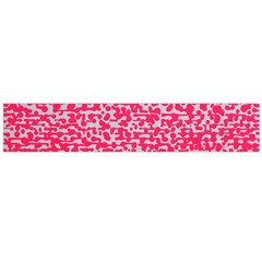 Template Deep Fluorescent Pink Flano Scarf (large)