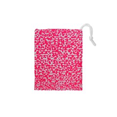 Template Deep Fluorescent Pink Drawstring Pouches (xs)