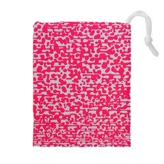 Template Deep Fluorescent Pink Drawstring Pouches (extra Large)