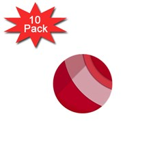 Red Material Design 1  Mini Buttons (10 Pack)