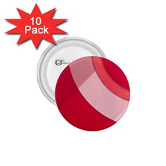 Red Material Design 1 75  Buttons (10 Pack)