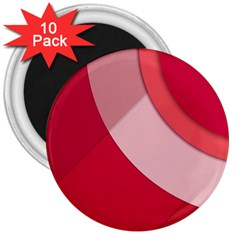 Red Material Design 3  Magnets (10 Pack)