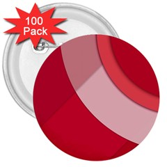 Red Material Design 3  Buttons (100 Pack)