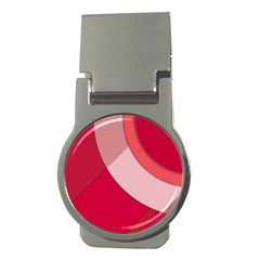 Red Material Design Money Clips (round)